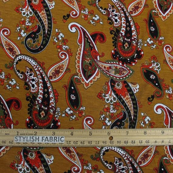 Style P-10012-HVY-RSJ Paisley Print on Rayon Spandex Jersey Fabric