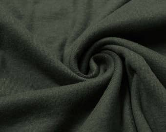 Olive Brushed 60'' Heavy-Weight Cotton Knit Fabric by the Yard