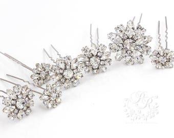 Weddings Hair Accessories rhinestone hair pins Bridal hair pins bridesmaid hair pins crystal hair pins  Bridal hair comb hair pins Daisy