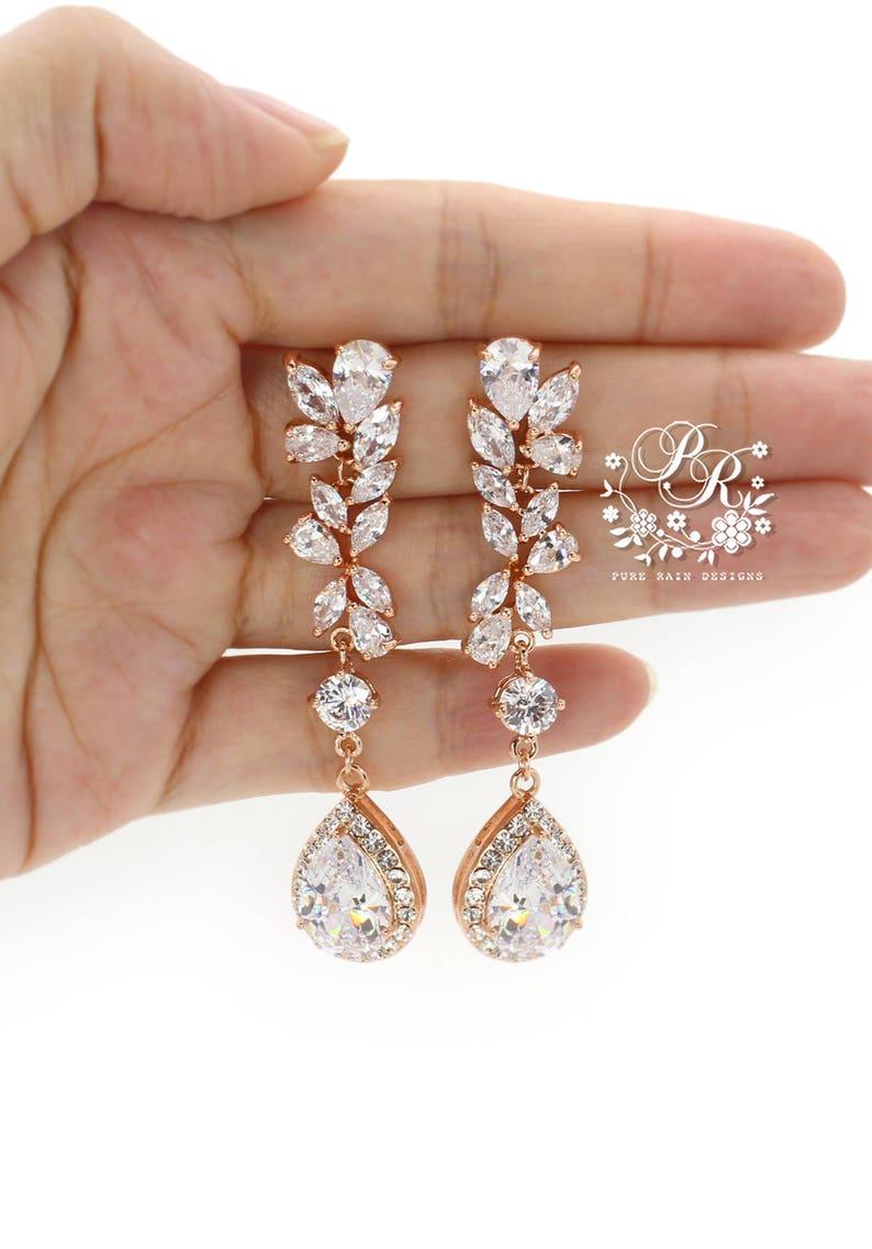 Wedding Hair Pin Set of 2 Platinum Rose Gold Zirconia Hair Pin Bobby Pin Bridal Jewelry Wedding Accessory Wedding Jewelry Bridesmaid Lisa