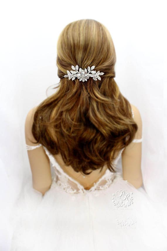 Wedding Hair Clip Wedding Barrette Rhinestone Hair Clip Bridal Etsy