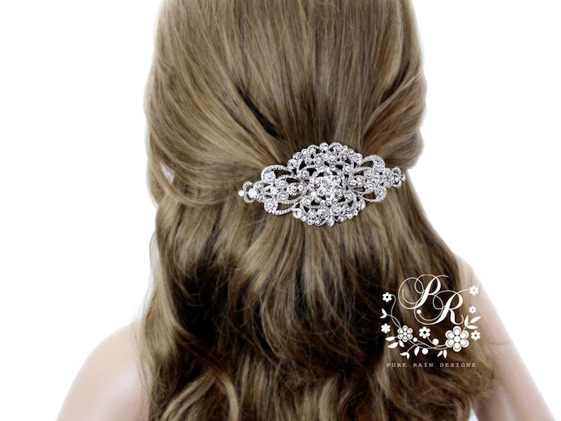 Wedding Hair Clip Wedding Barrette Rhinestone Hair Clip Bridal image 0
