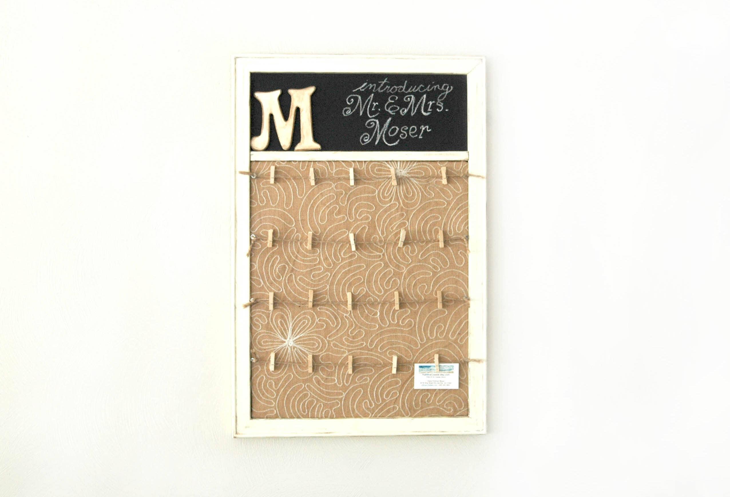Hochzeit-Speicher-Karte Wäscheklammer Bilderrahmen & Tafel | Etsy