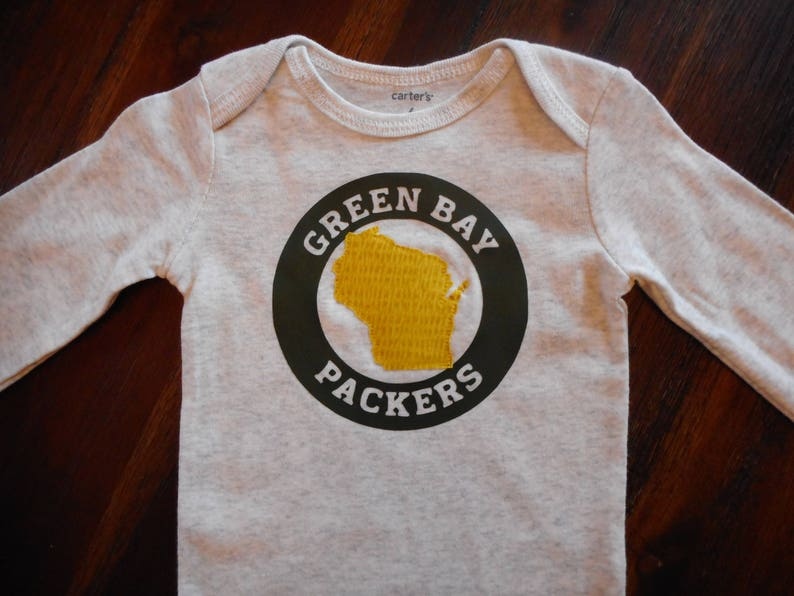 Green Bay Packers Shirt Wisconsin Bodysuit State Apparel Etsy