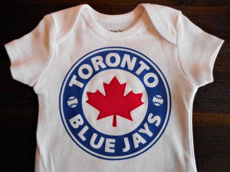 new arrival c9f4c 7a7d7 Toronto Blue Jays Gender Neutral Baby Bodysuit, Toronto Baseball, Blue Jays  Bodysuit, Blue Jays Baby Gift, Canadian Baseball, Blue Jay Shirt