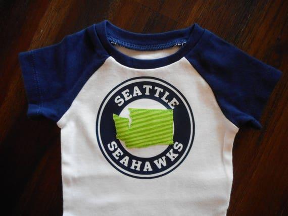 Seattle Seahawks Gender Neutral Raglan