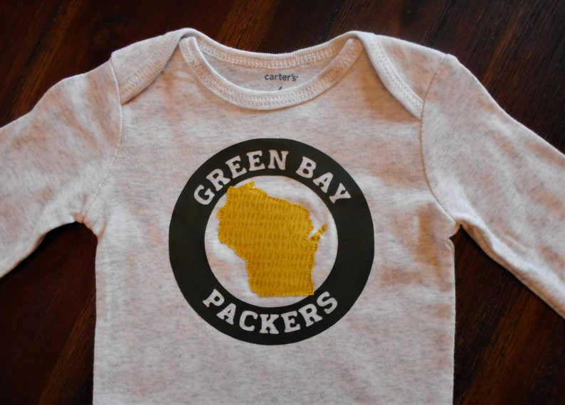 Nice Green bay packers shirt wisconsin bodysuit state apparel. | Etsy