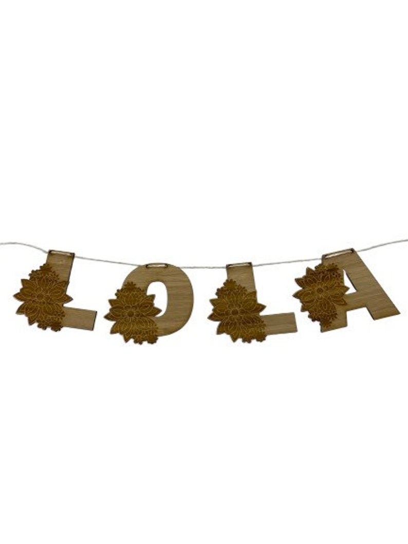 Wooden Garland Timber Flags Alphabet And Numbers Bunting Laser Cut Wooden Letters Wooden Banner wedding hens party birthday name