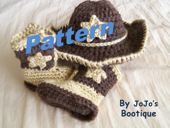 Pattern Baby Star Cowboy Hat And Boots Crochet Pattern Baby Etsy