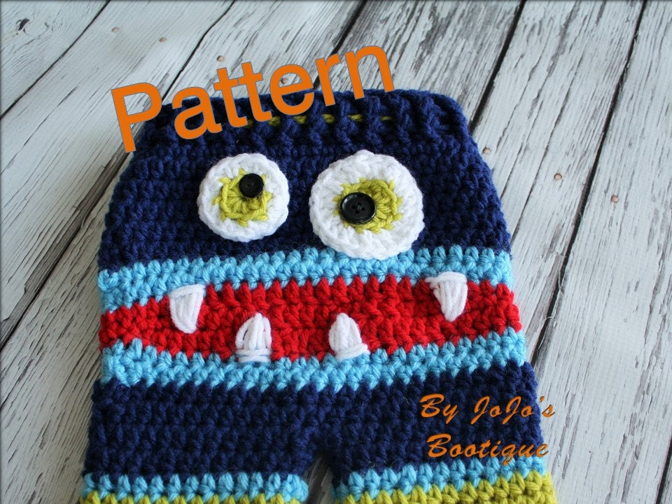 Monster Baby Pants Pattern Striped Baby Monster Pants Pdf Etsy