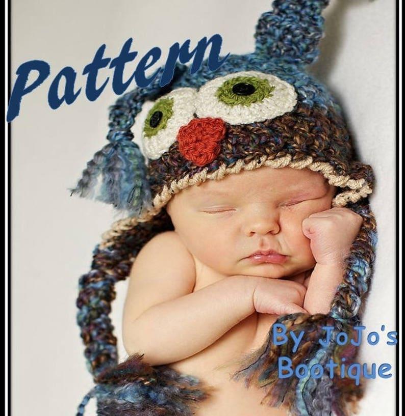 0e90469b5 PATTERN - Owl Hat Pattern - Crochet Baby Owl Hat Tutorial - PDF Hat Pattern  - Halloween Owl Costume Pattern - Baby Hats - by JoJo's Bootique