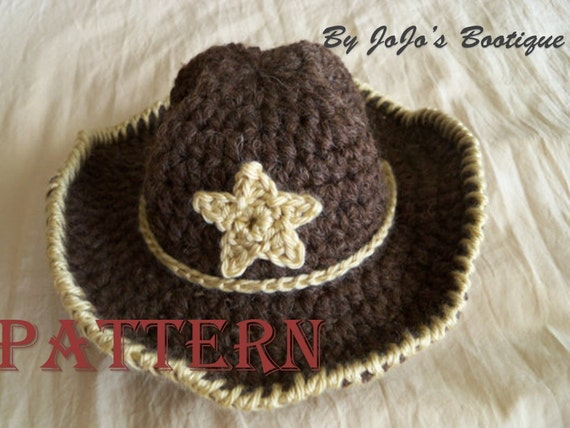 Baby Cowboy Hat With Star Pattern Baby Cowboy Hat Western Etsy