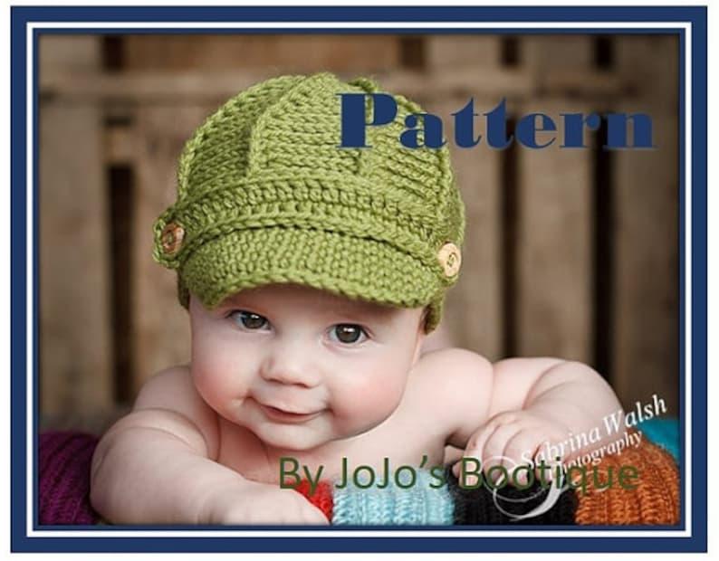 d20ba7a4 PDF Newsboy Hat PATTERN with BONUS Sizes Baby Newsboy Hat | Etsy