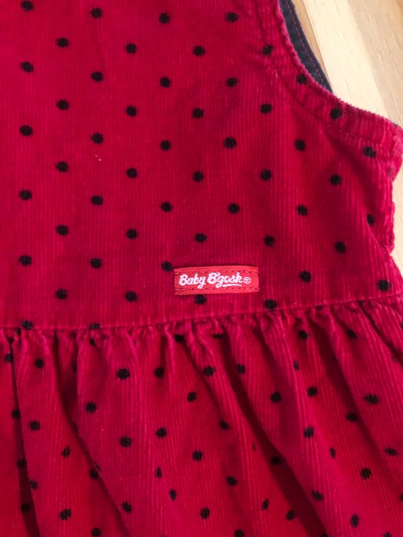 vintage Baby BGosh size 24 month Red Corduroy Jumper Retro Baby Dress Vintage Osh Kosh made in USA