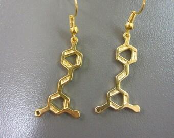 Wine Molecule Earrings - Wine Earrings - Resveratrol Molecule Earrings - Chemistry Earrings - Science Jewelry - Molecular Earrings