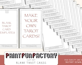 Tarot cards blank middle - digital file - customize it yourself with your own design - digital clip art INSTANT DOWNLOAD