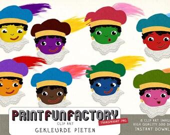Pieten color clip art INSTANT DOWNLOAD