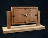 One of my Wooden mantel clocks. An oak clock which is free standing for the table, office, bedside or shelf. Wooden mantle clock
