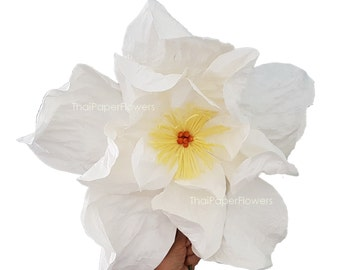 "1 Gaint Large Curly Mulberry Paper Flowers Wedding Back Drop Supply 20"" or 50 cm"