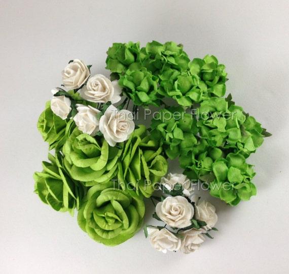 100 Paper Flowers Scrapbook Cardmaking Birthday Party Art Craft Supply P700-15