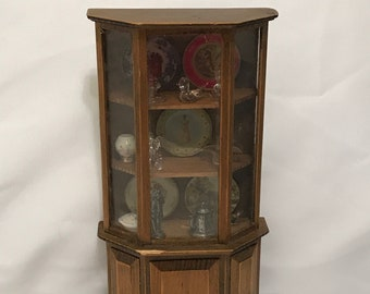 "Dollhouse Miniature 1"" Scale Filled Cabinet"