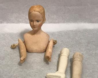 "Dollhouse Miniature 1"" Scale Porcelain Doll"