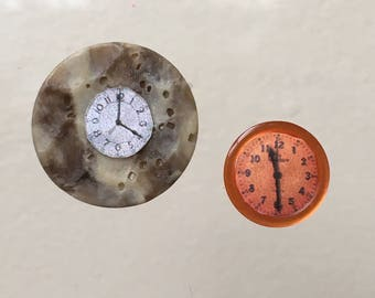 "Dollhouse Miniature Set of Clocks in  1"" scale (DC)"