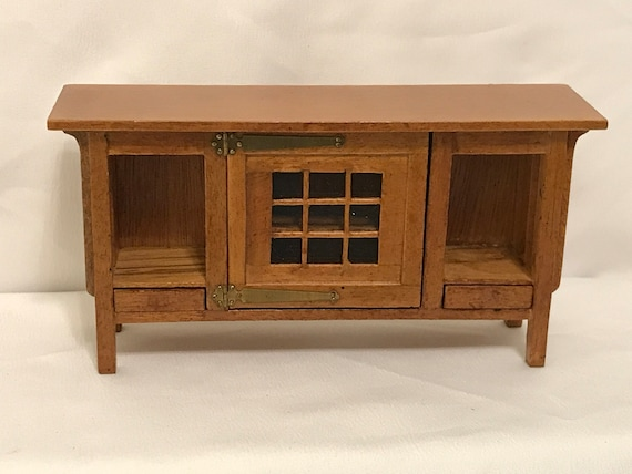 Dollhouse Miniature Black Bar Buffet Server 1:12 Scale Furniture