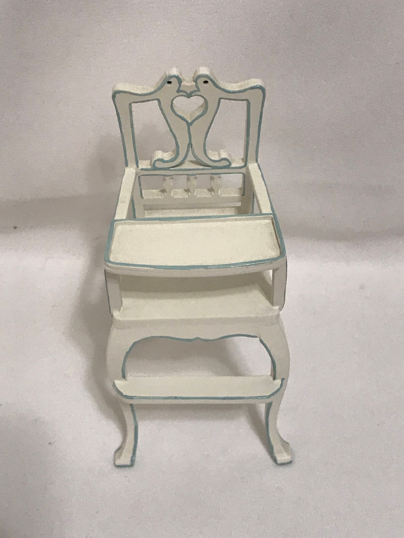 Swell Dollhouse Miniature 1 Scale Bespaq High Chair Pabps2019 Chair Design Images Pabps2019Com