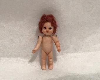 "Dollhouse Miniature 1/2"" Scale Porcelain Doll"