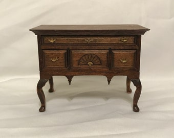 "Dollhouse Miniature 1"" Scale Lowboy Cabinet"