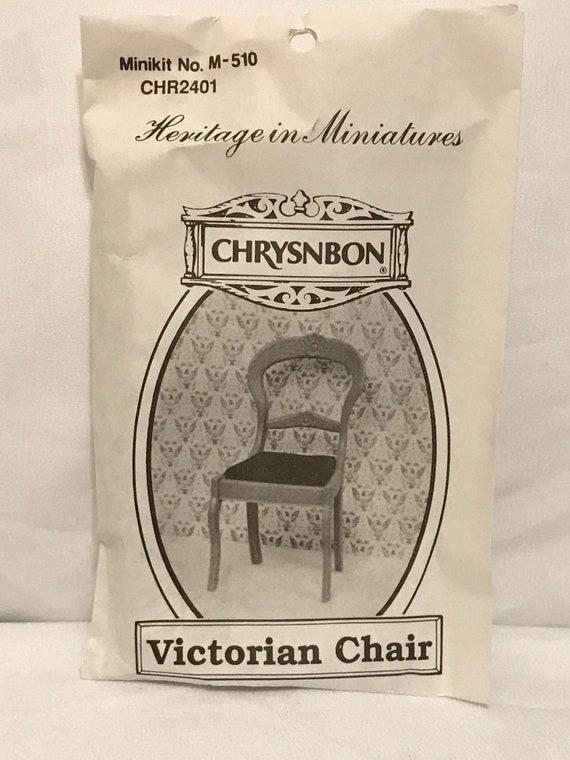 Dollhouse Miniature Chrysnbon Victorian Chair  Kit
