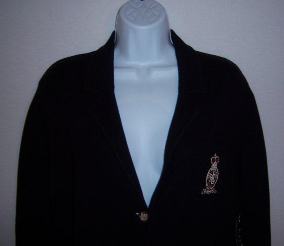 Vintage Polo Ralph Lauren Black Crested Madison Av