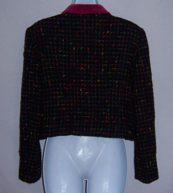 Vintage Moschino Cheap and Chic Black Pink Green … - image 3