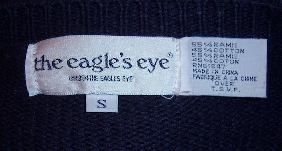 Vintage Eagle s Eye Navy Blue Fashion Accessories Purses  a2f40dbe2