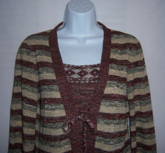 Vintage St. Gillian by Kay Unger Maroon Grey Taupe