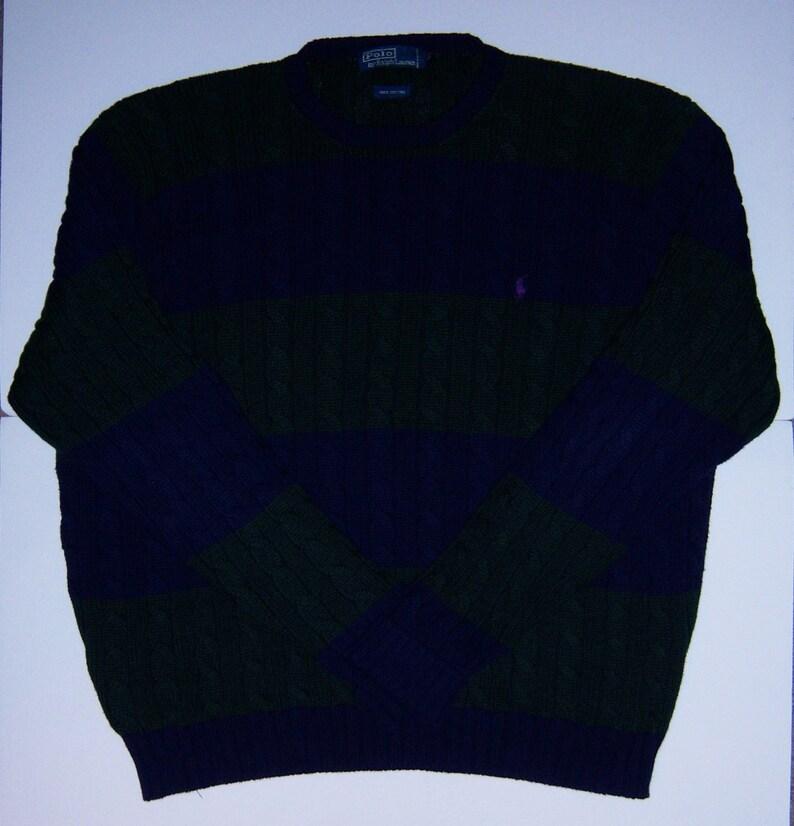 e1e29e023dc2 Vintage Polo Ralph Lauren Navy Blue Hunter Green Striped