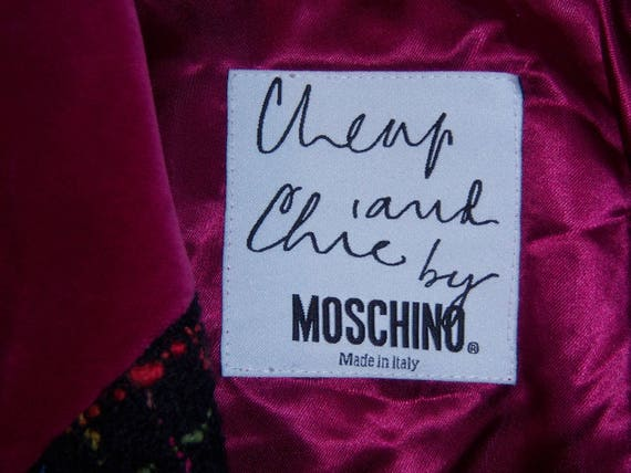Vintage Moschino Cheap and Chic Black Pink Green … - image 4