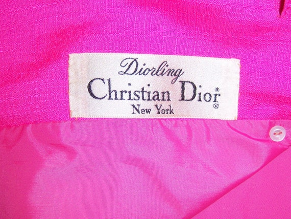 Vintage Christian Dior Diorling Hot Pink Fuschia … - image 5