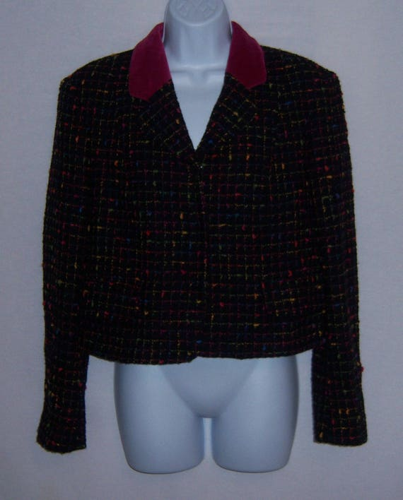 Vintage Moschino Cheap and Chic Black Pink Green … - image 2
