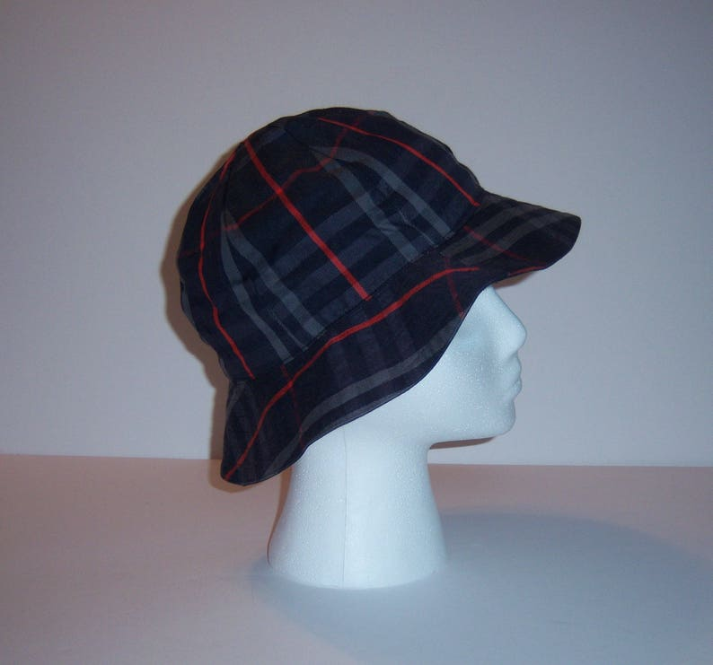 a974112e58d Vintage Burberrys Navy Blue Nova Check Cotton Women s