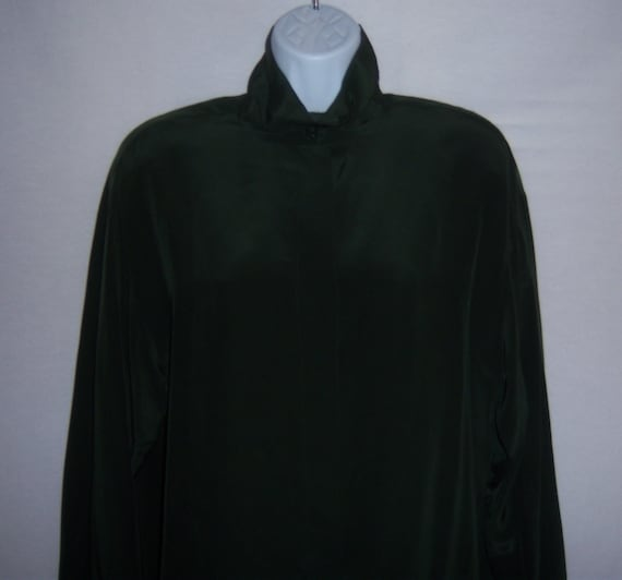 Vintage Ellen Tracy Linda Allard Dark Forest Green