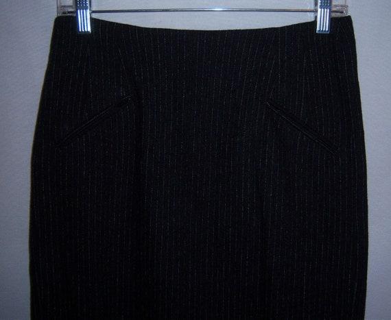 Vintage DKNY Donna Karan Dark Charcoal Grey Pinstr