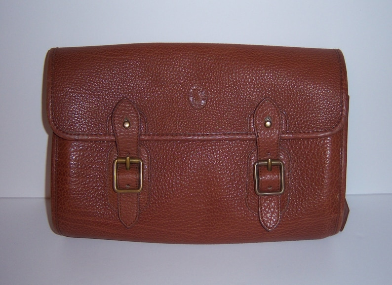 3578f9c5f0ef VIntage Polo Ralph Lauren Classic Brown Pebbled Leather Clutch