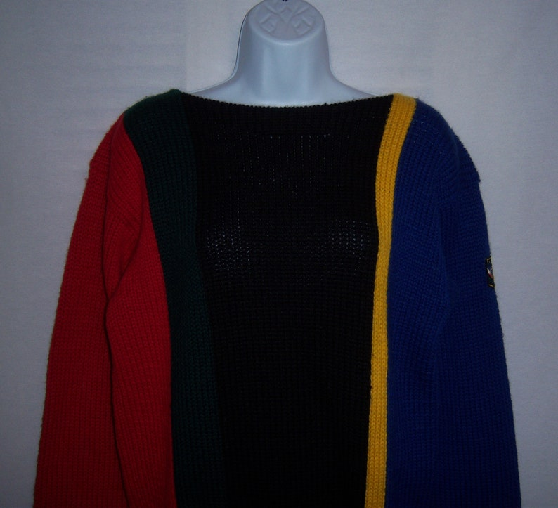 5755075c0a8 Vintage Polo Ralph Lauren Royal Blue Red Black Green Striped   Etsy