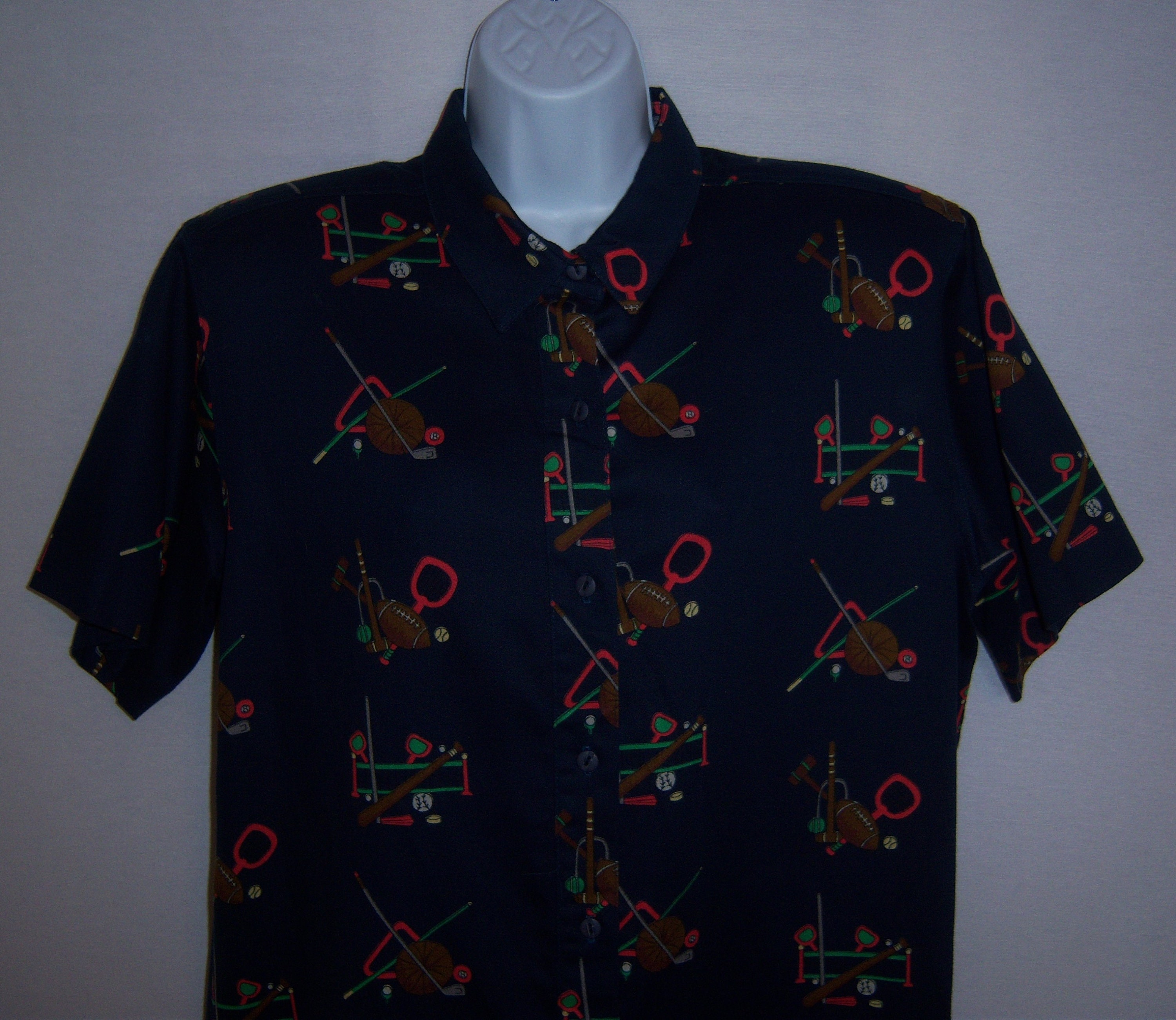 Vintage Traditional Trading Co Navy Blue Red Green Sports Etsy