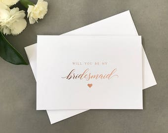 will you be my bridesmaid card etsy