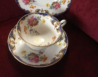 English Country Traditional Grosvenor Trio Teacup set