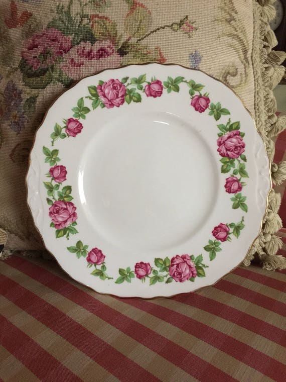 English Country Rose Garden Royal Vale Plate