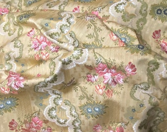 French Scalamandre Lampas Gabrielle Vine Floral Fabric